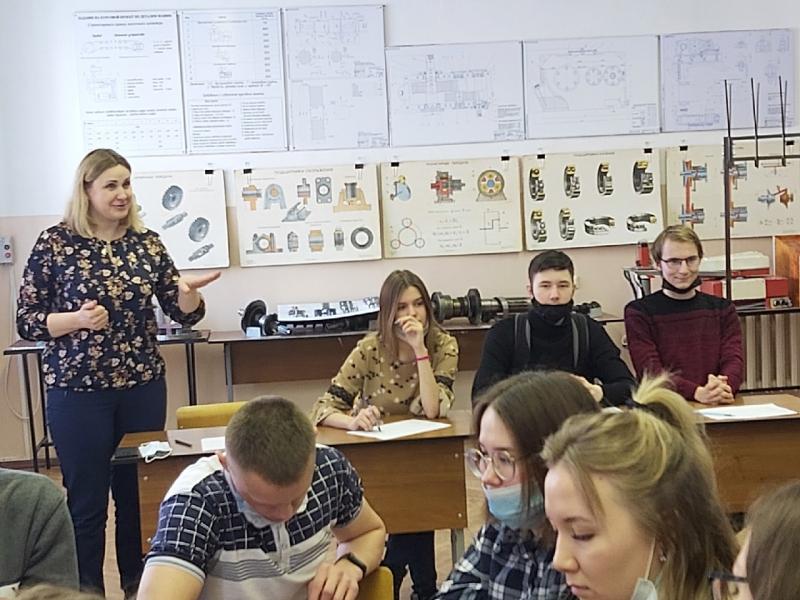 мастер-класс со студентами ЛПК на каф. ОНД, март 2021 г